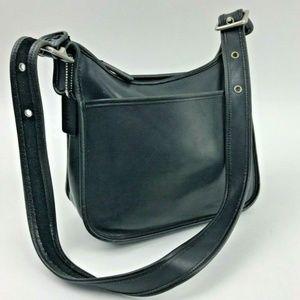 Vintage Coach Legacy Black Leather Shoulder Crossb